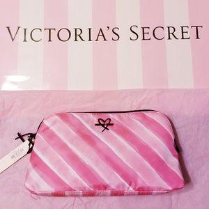 Victoria's Secret Makeup Bag Signature Stripes